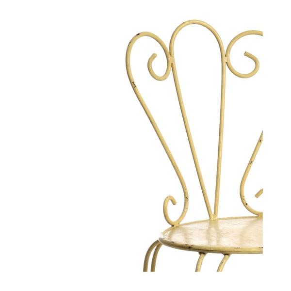 Kovová židle Yellowish