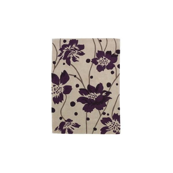Koberec Hongkong Cream Purple, 60x120 cm