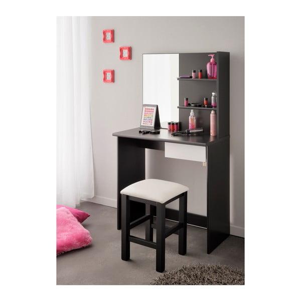 Černobílý toaletní stolek Parisot Orléans
