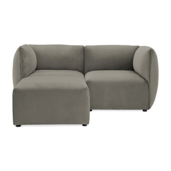 Canapea modulară cu 2 locuri și suport pentru picioare Vivonita Velvet Cube, gri de la Vivonita