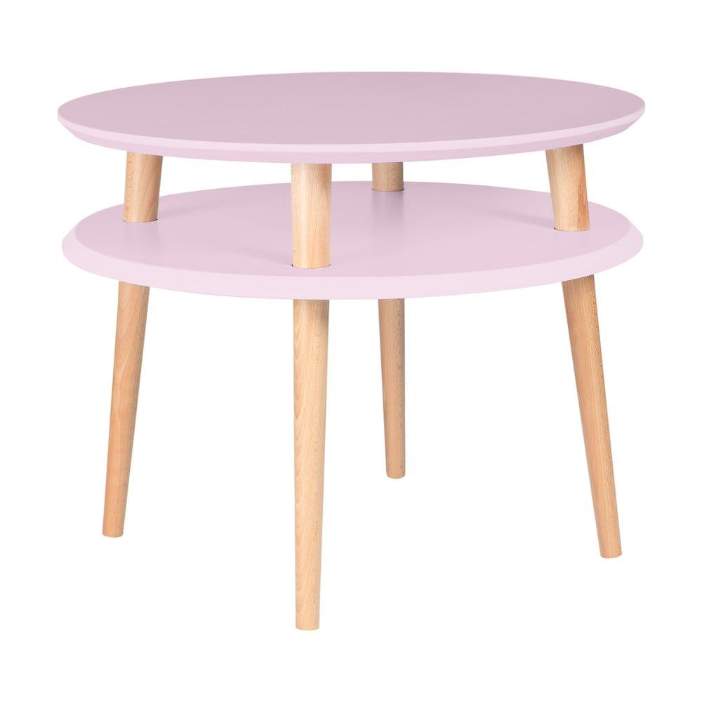Růžový konferenční stolek Ragaba UFO, Ø 57 cm