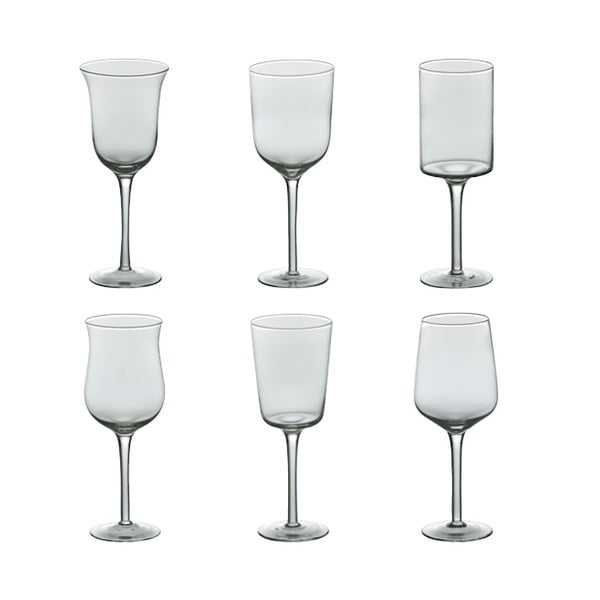 Sada 6 sklenic na víno Desigual Transparent