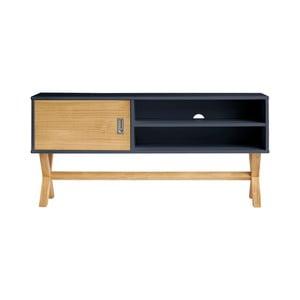 Antracitově šedý televizní stolek Marckeric Leidi, 110 x 52 cm
