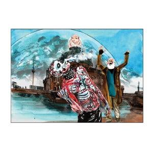 Autorský plakát od Toy Box Bůh stojí na mostě, směje se a vidí ještě víc stínů než před tím, 60x43 cm