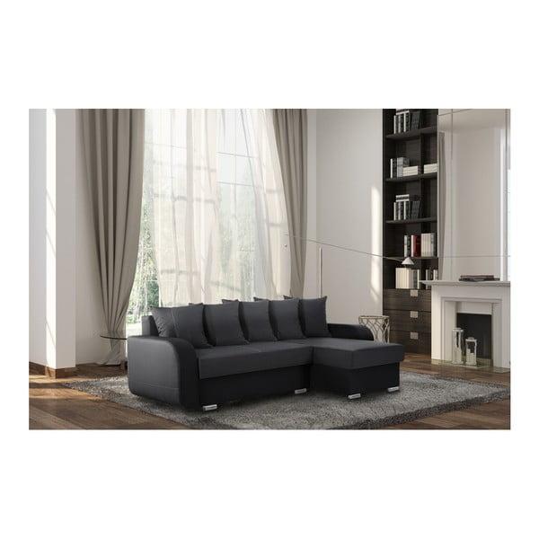 Černá sedačka Interieur De Famille Paris Destin, pravý roh