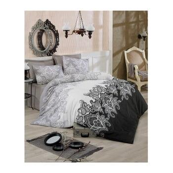 Lenjerie de pat cu cearșaf Artful, 200 x 220 cm de la Eponj Home