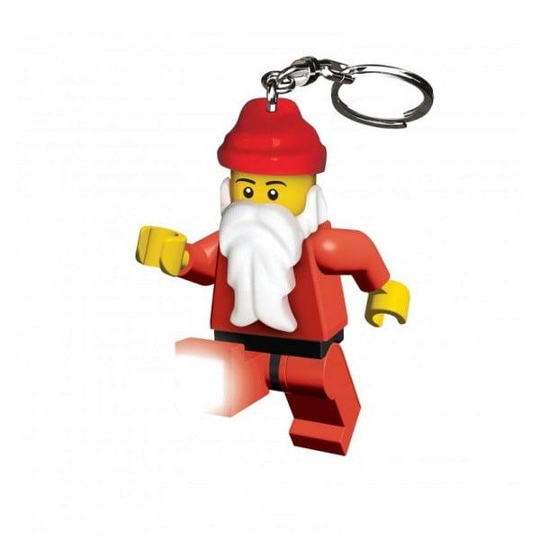 Svítící klíčenka LEGO Santa