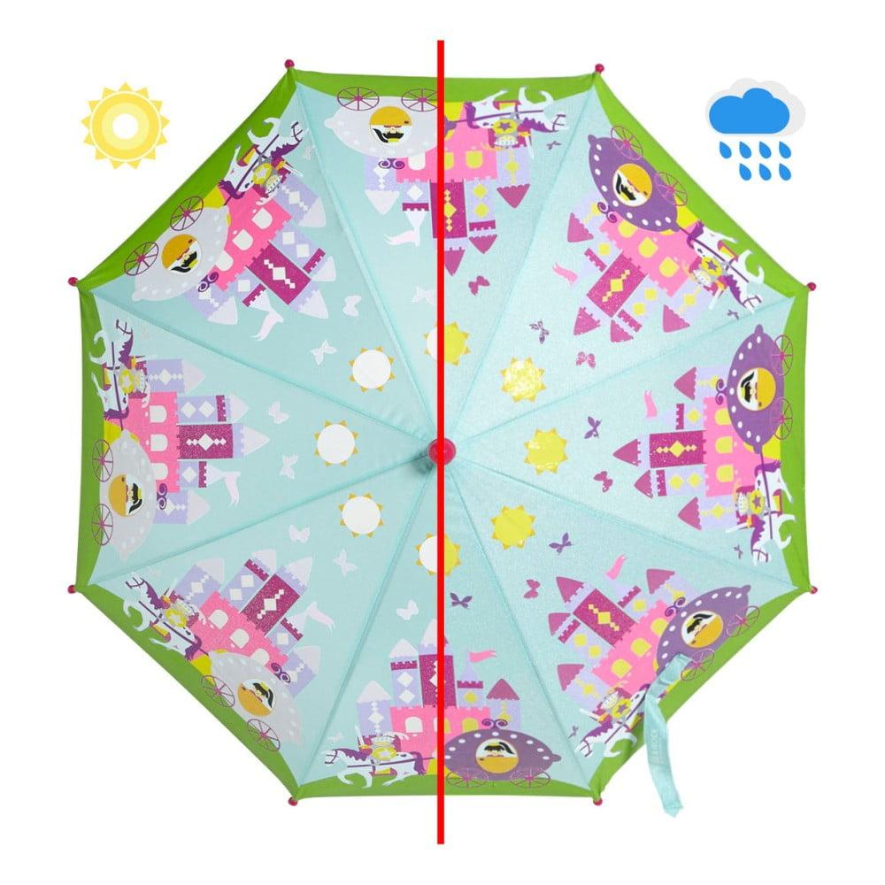 Dětský holový deštník měnící barvu Fairy Princess, ⌀70cm
