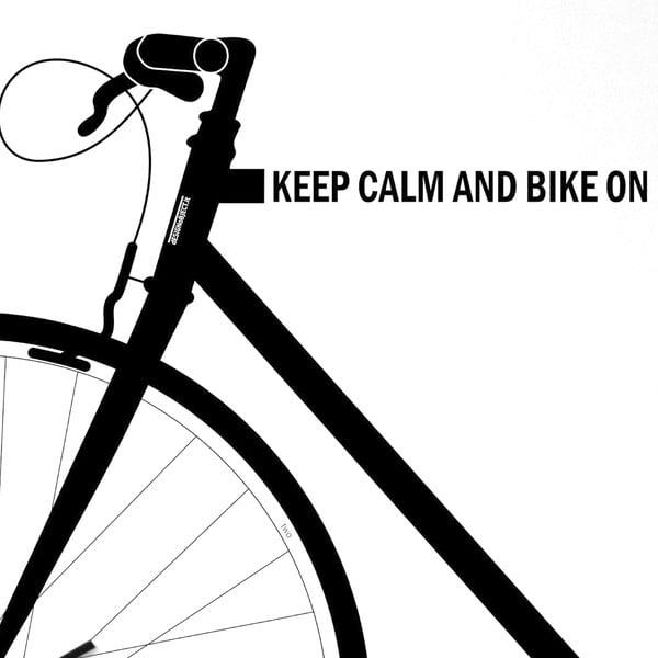 Nástěnné hodiny dESIGNoBJECT.it Bike White,50x50cm