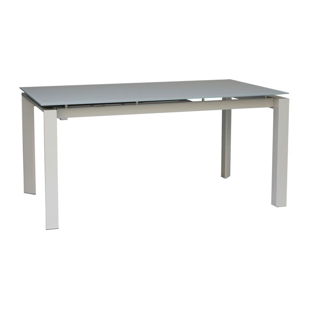 Šedý rozkládací jídelní stůl sømcasa Selena, 160 x 90 cm