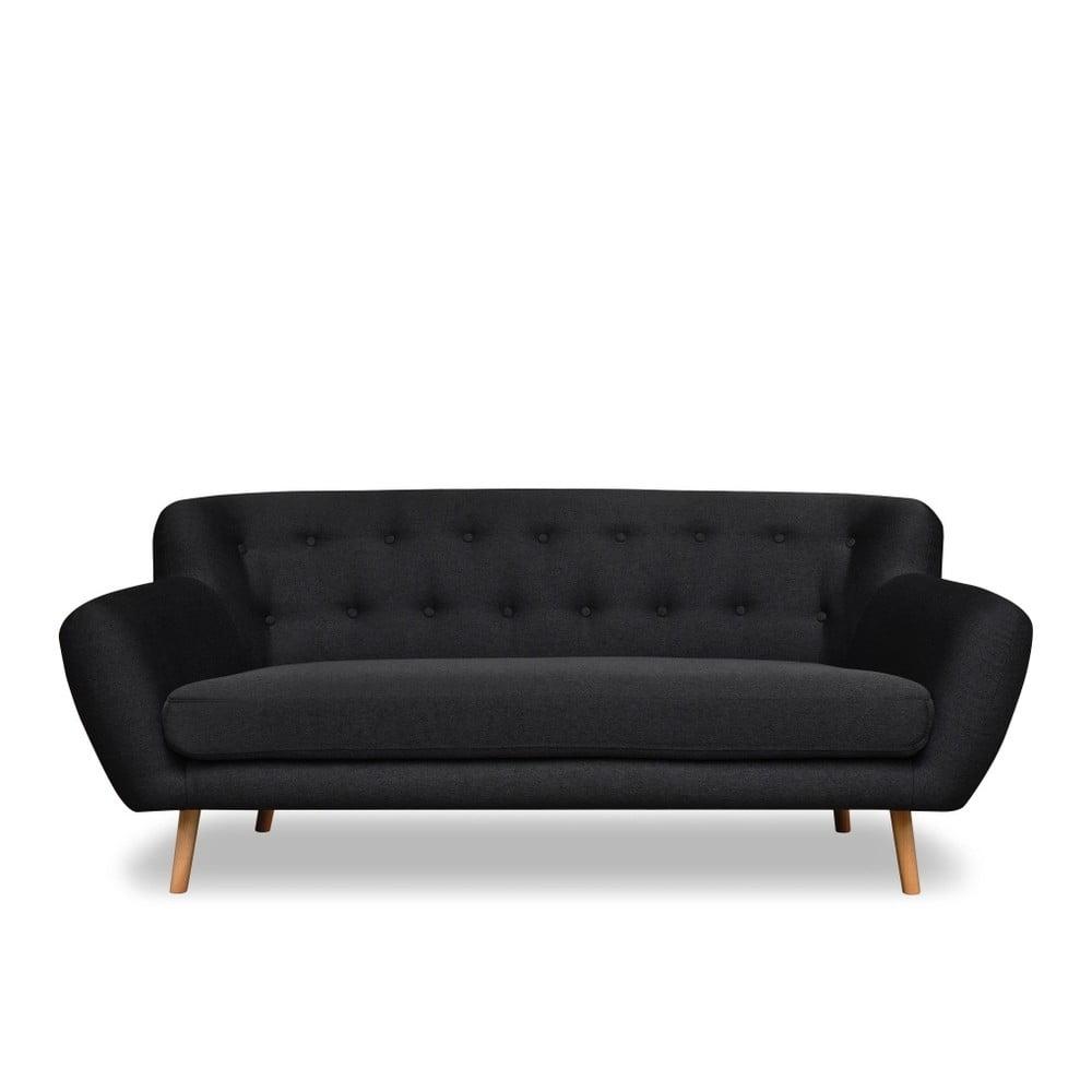 Antracitově šedá pohovka pro tři Cosmopolitan design London Cosmopolitan design