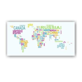 Hartă a lumii de perete Tomasucci World Map, 80 x 160 cm de la Tomasucci