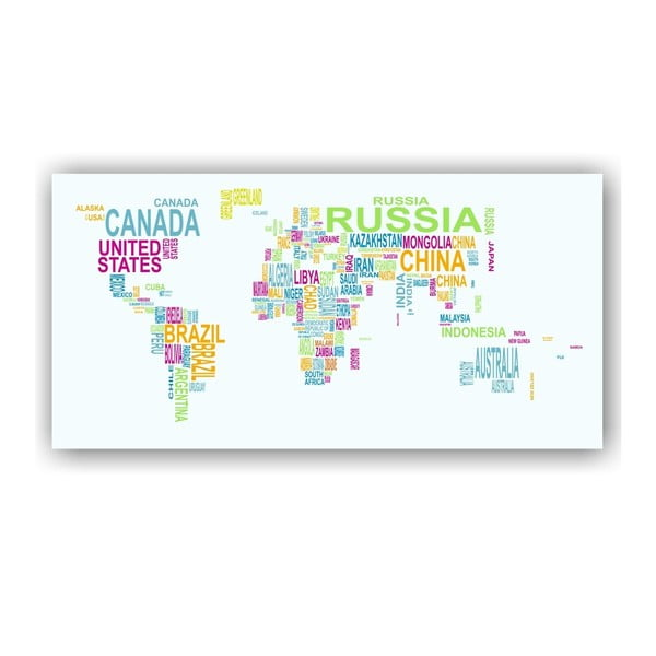 Nástenná mapa sveta Tomasucci World Map, 80x160cm