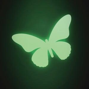 Samolepka svítící ve tmě Motýl