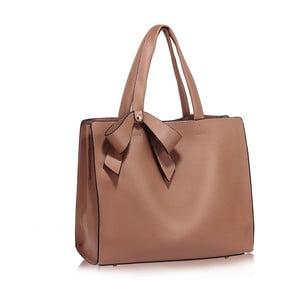 Pudrově růžová kabelka L&S Bags Bowtie