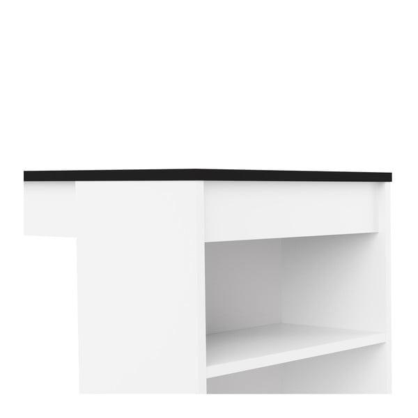 Bílý barový stůl s černou deskou Symbiosis Aravis