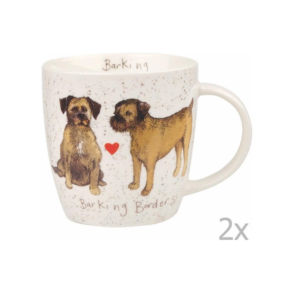 Sada 2 hrnků Churchill China Dogs Terrier, 400 ml