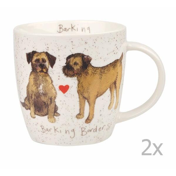 Sada 2 hrnků Churchill China Dogs Terrier, 400ml