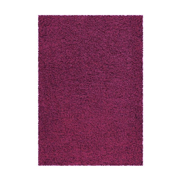 Koberec Super Shaggy 160x230 cm s 5 cm dlouhým vlasem, fialový