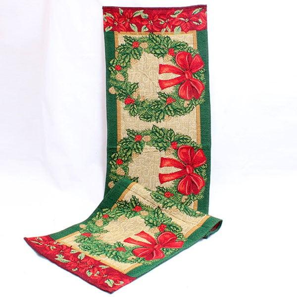 Běhoun Vánoce, 140x33 cm