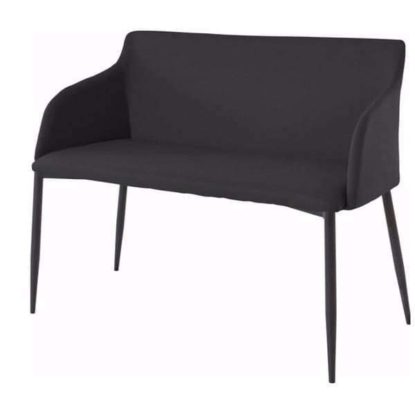 Černá lavička s černými nohami Støraa Nimbus