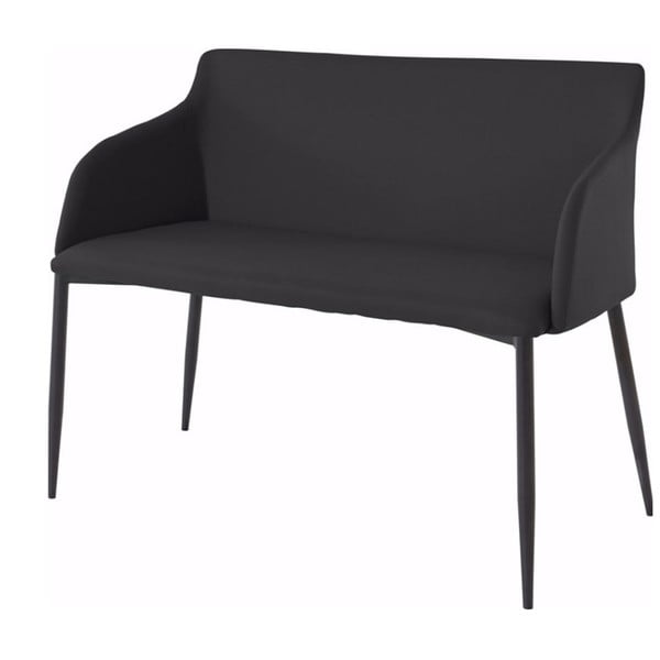 Czarna ławka z czarnymi nogami Støraa Nimbus