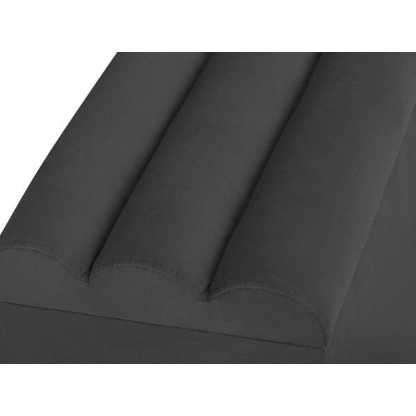 Tmavě šedá lavice s úložným prostorem Cosmopolitan Design Los Angeles