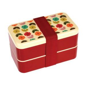 Cutie etajată pentru gustare cu tacâmuri Rex London Poppy