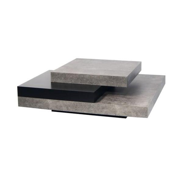 Konferenční stolek v betonovém dekoru s černými detaily TemaHome Slate