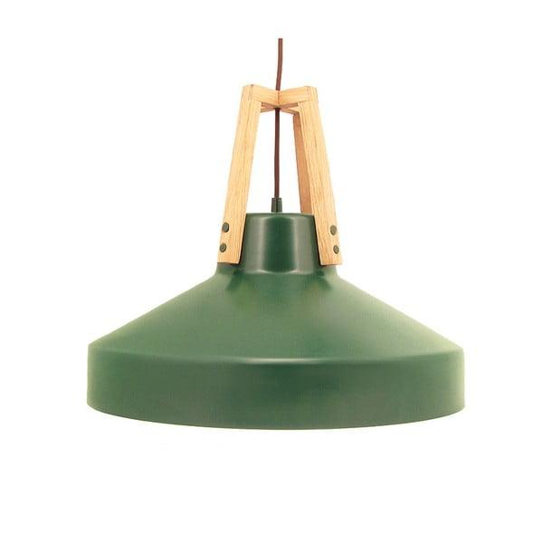 Zelené stropní světlo Loft You Work, 33 cm