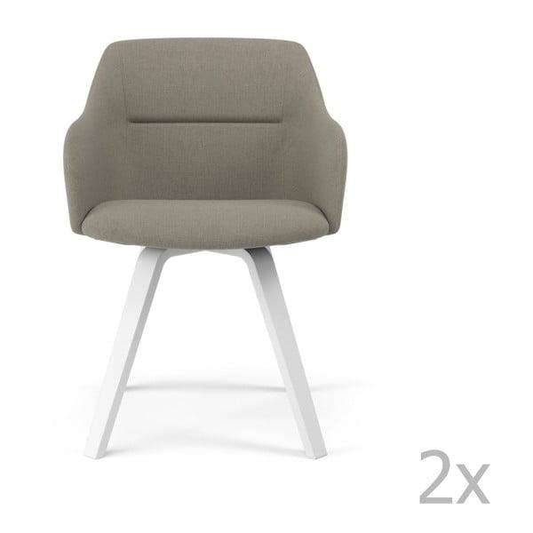 Set 2 scaune Tenzo Sofia, gri deschis