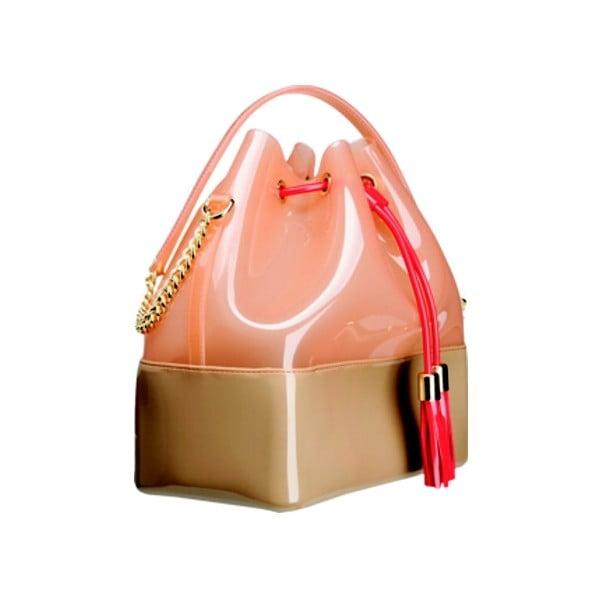 Pudrově růžová plastová kabelka Kartell Grace K
