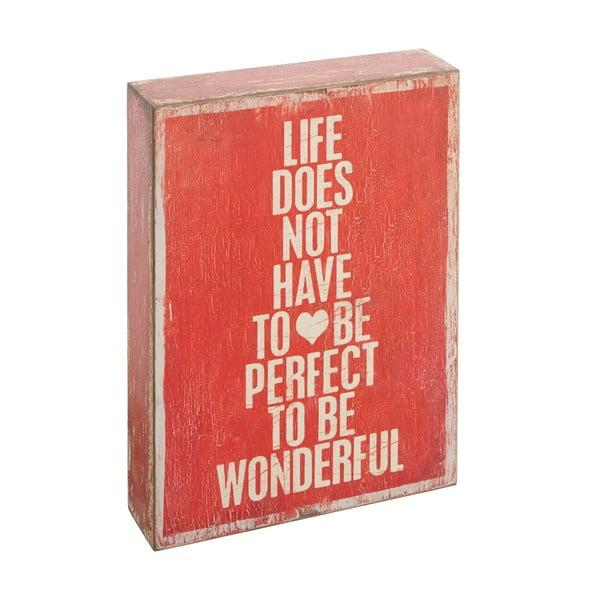 Dekorativní nápis Not To Be Perfect
