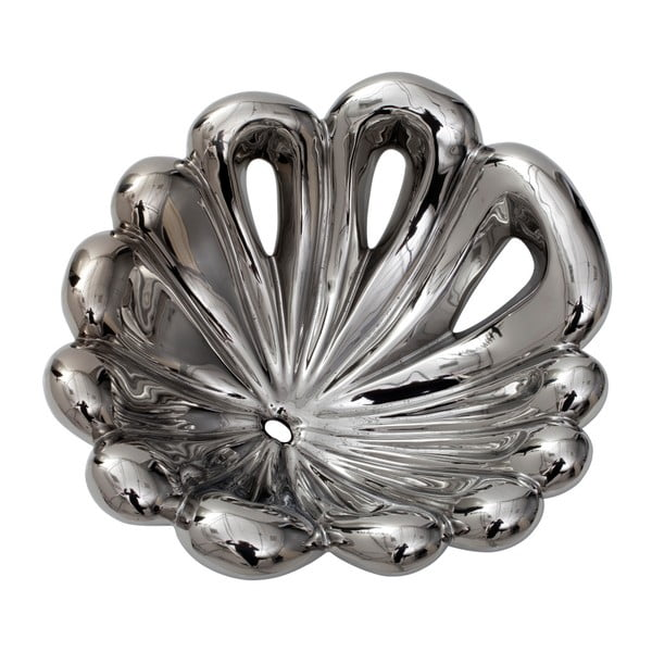 Porcelánová dekorativní miska ve stříbrné barvě Mauro Ferretti Polly, 31cm