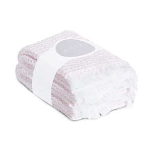 Sada 2 světle růžových vaflových ručníků Casa Di Bassi, 65 x 100 cm
