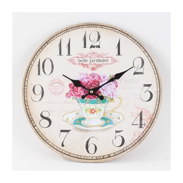 Dřevěné nástěnné hodiny Roses