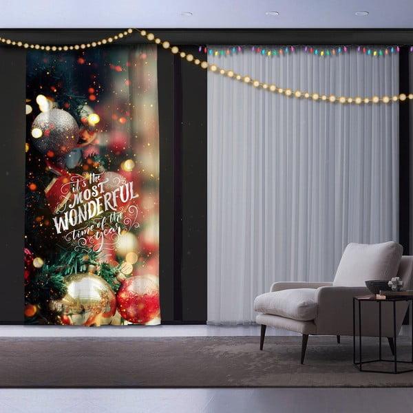 Świąteczna zasłona Christmas Wonderful, 140x260 cm