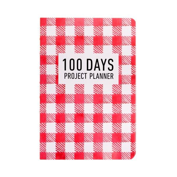 Plánovač Languo 100 Days Pattern, červený
