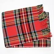Červená károvaná deka Euromant Scott, 140x180cm