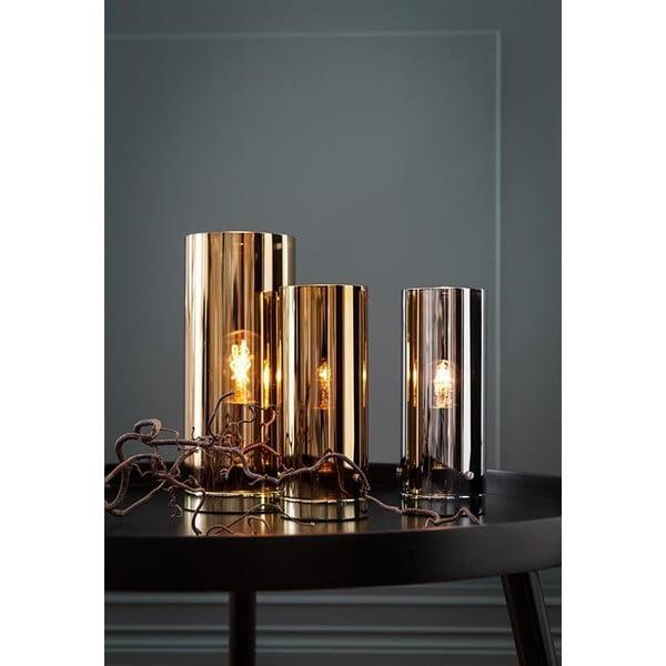 Stříbrná stolní lampa Markslöjd Storm, 9cm