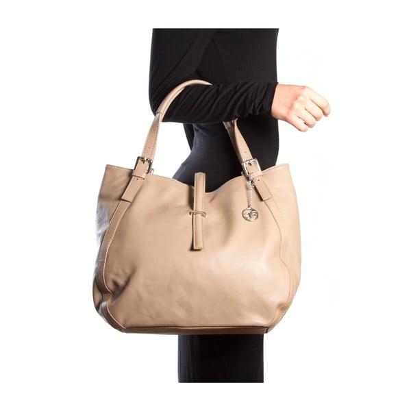 Kožená kabelka Theresa, hnědá