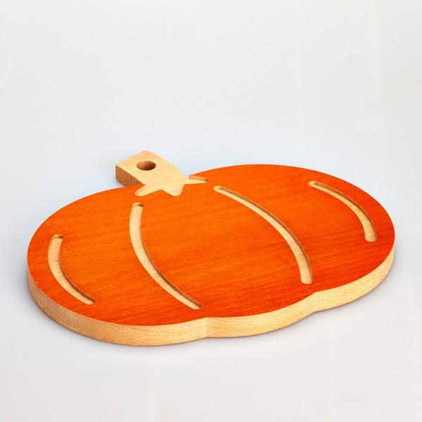 Tocător din lemn de fag Bisetti Pumpkin, 31,5 x 27,5 cm