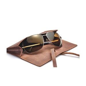 Husă din piele pentru ochelari / ustensile de scris Packenger