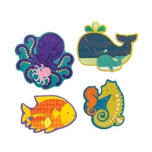 Sada 4 skládaček Petit collage Ocean Babies