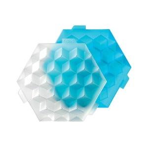Modrá silikonová forma na led Lékué Ice Cube