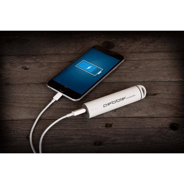Încărcător portabil Veho Global Group Pebble Ministick Powerbank, 2 200 mAh, alb