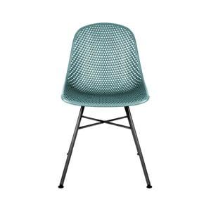 Modrá jídelní židle Leitmotiv Diamond Mesh