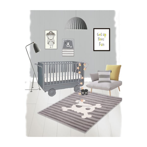 Dětský koberec Nattiot Sweet Skull, 120x170cm