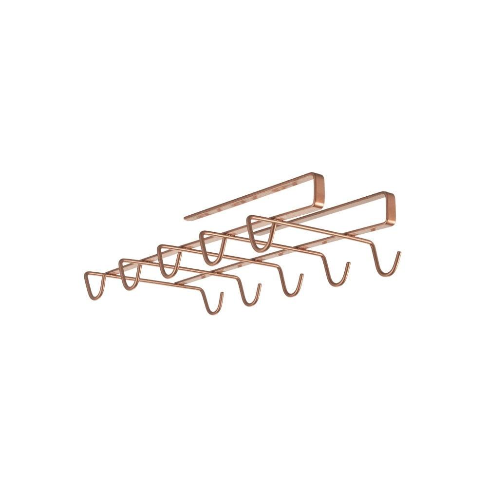 Závěsný držák na hrnky v měděné barvě Metaltex