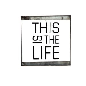Skleněná tabulka s nápisem This, 30x30 cm